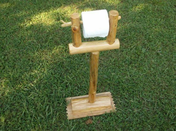 log toilet paper holder
