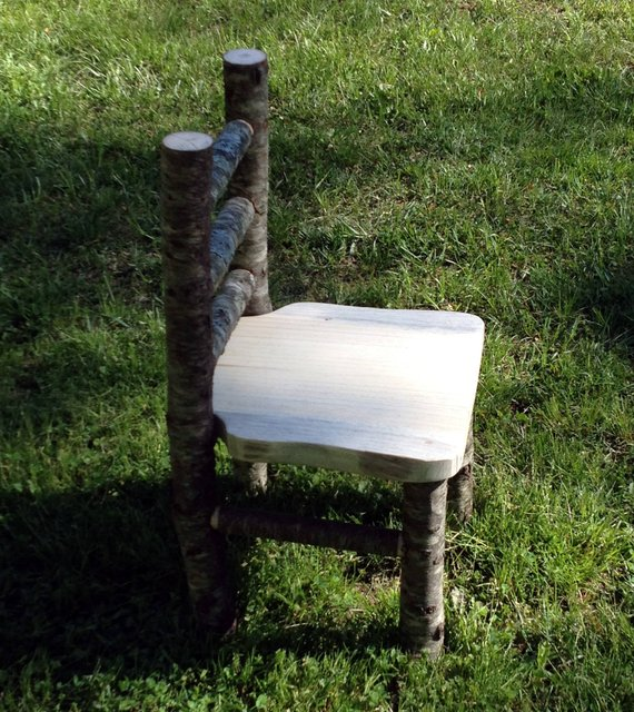 kids log chair