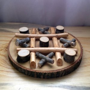 Rustic Tic Tac Toe Game