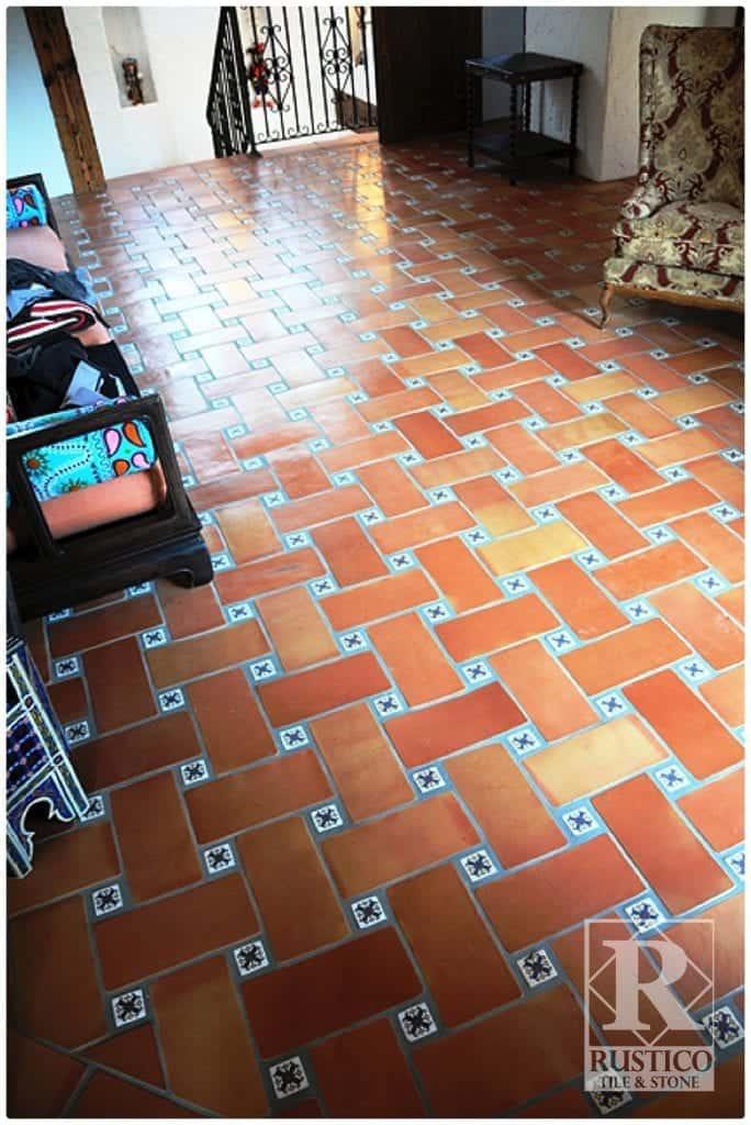 6x12 basketweave pattern rustico tile