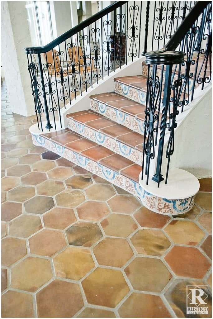 mexican tile floor and decor rustico