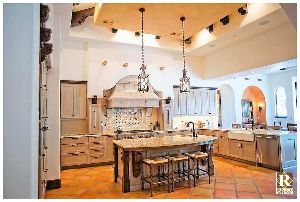 spanish style kitchen decor rustico