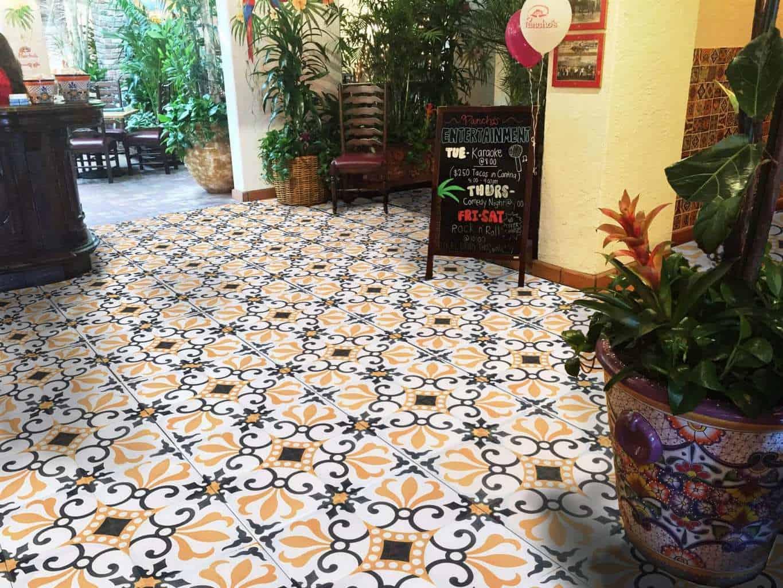 encaustic cement tile thames design spanish style rustic flooring