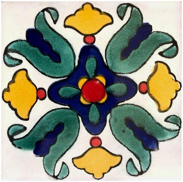 mexican ceramic talavera tile 6x6 vallarta 45 hand painted tiles