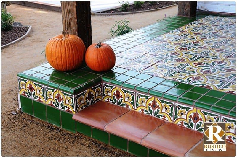 mexican tile for patio rustico tile