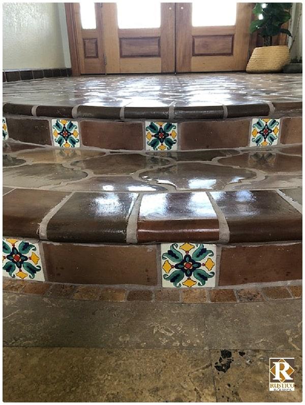 stair coping talavera tiles rustico