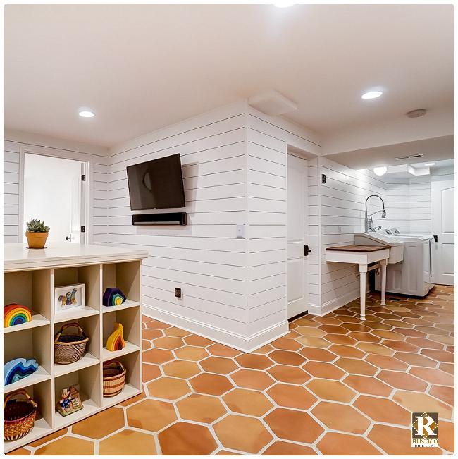 hexagon terracotta tile rustico tile