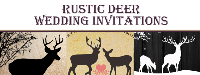 Rustic Deer Invitations