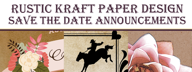 Rustic Kraft Save the Date Announcements