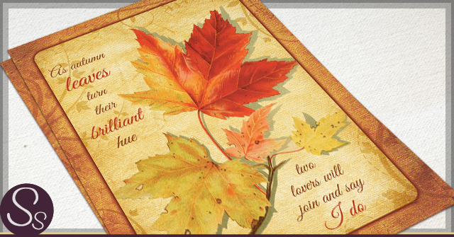 fall wedding invitations autumn leaves archives rustic paper 4039