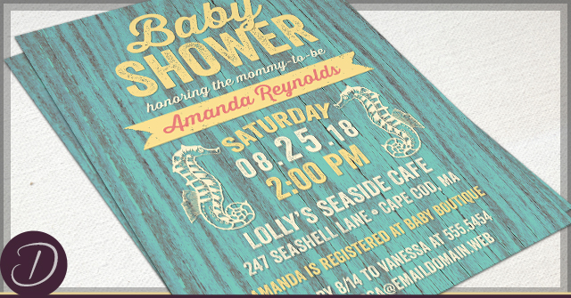 Rustic Baby Shower Invitations by D