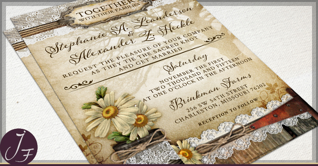 Rustic Tin Can Wedding Invitations by JF