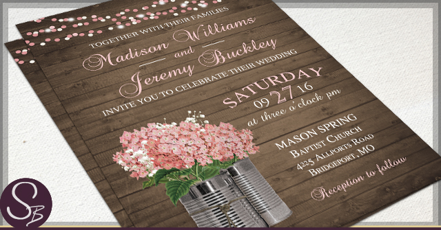 Rustic Tin Can Wedding Invitations by SB