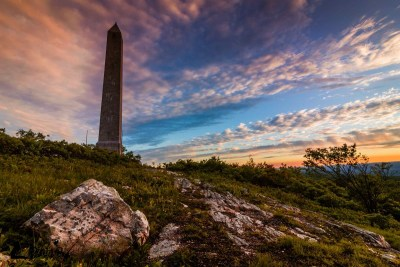 High Point Monument sunset