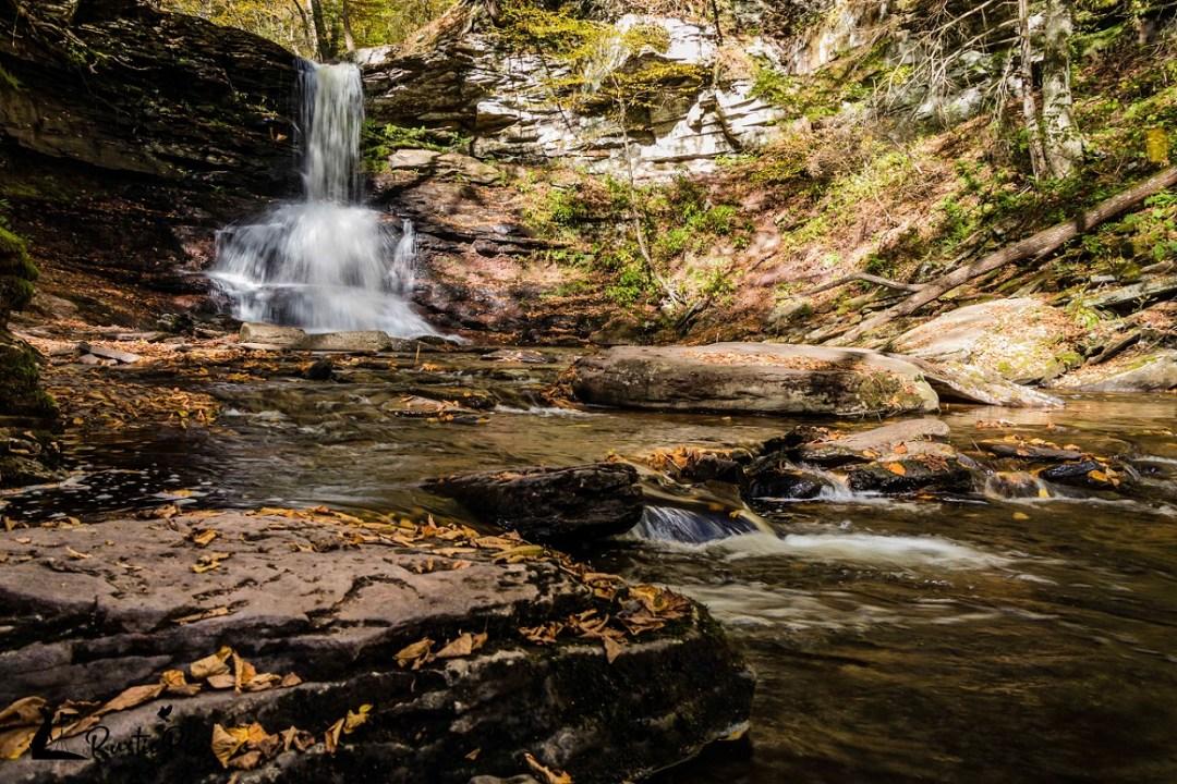 ricketts glen state park sunny fall day