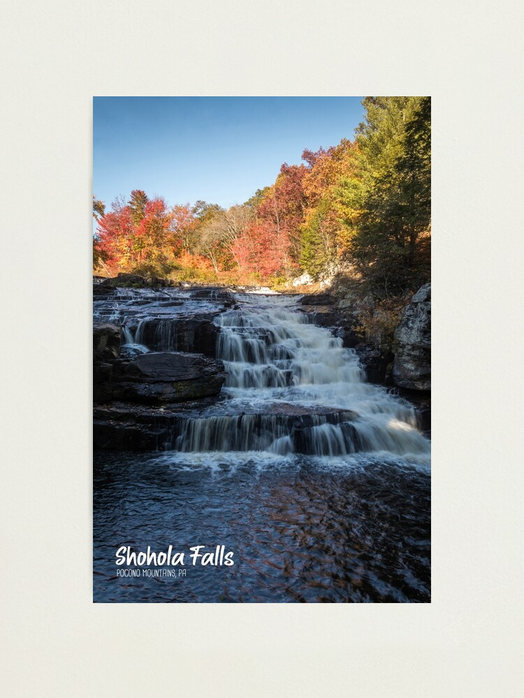 shohola falls photo print portrait