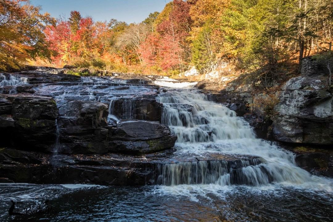 Shohola Falls peak foliage