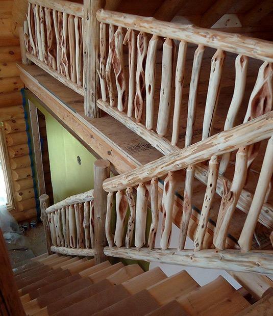 Ryans Rustic Railings Custom Log Furniture Orr MN