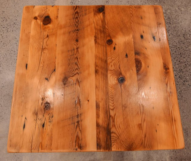 Reclaimed Pine Wood Tabletop No Base