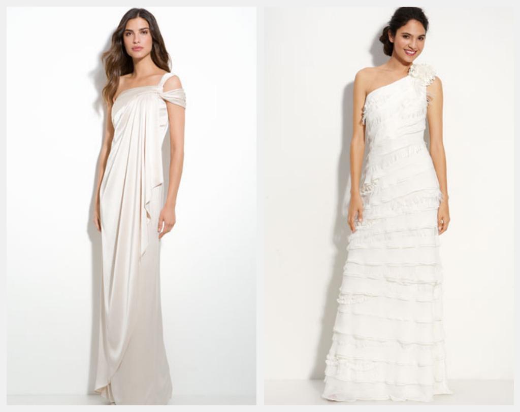 One Shoulder Wedding Gowns For A Rustic Or Country Wedding