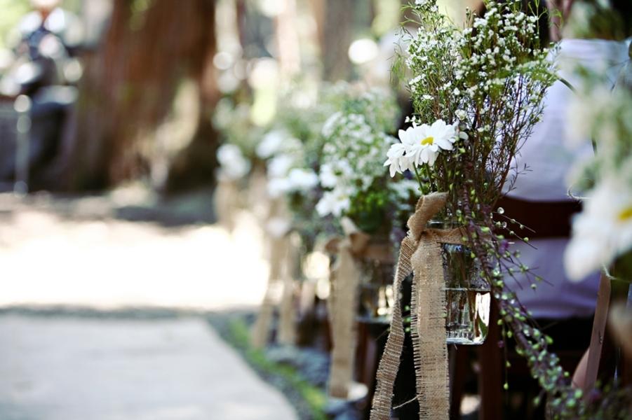 California Rustic Cabin Style Wedding