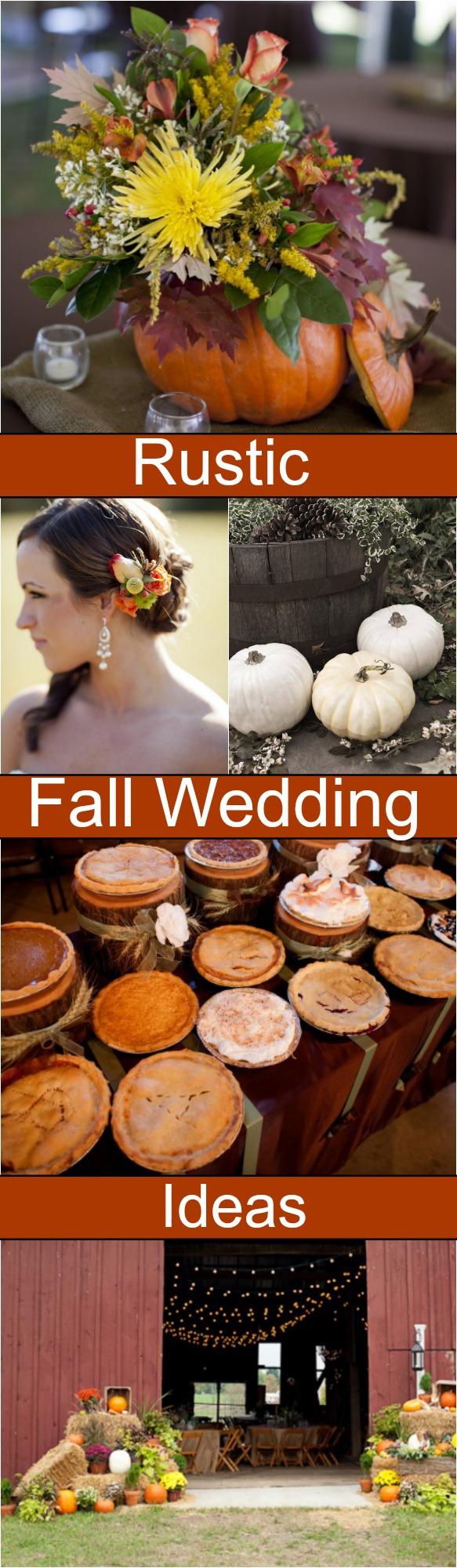 Fall Love Wedding Decorations