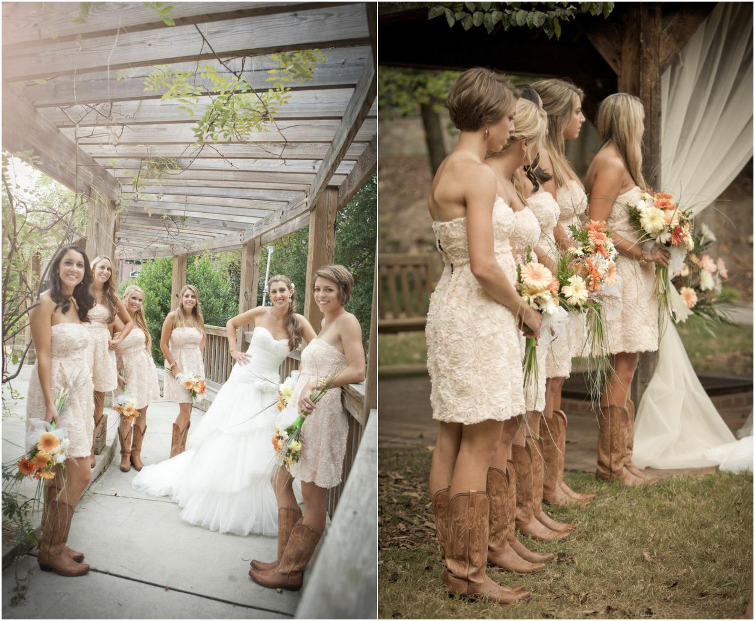 Cowboy Boots Fantastical Wedding Stylings
