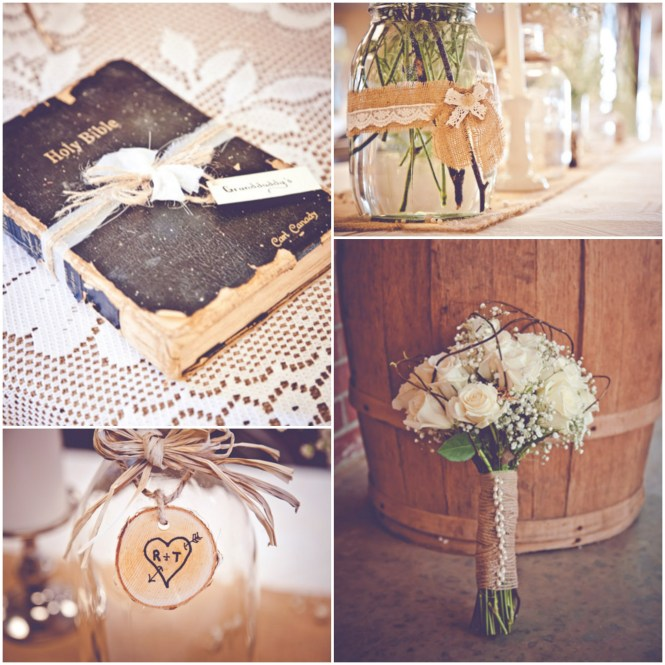 How To Make Burlap Wedding Decorations And Reclaimed Wood Cards Box For Rustic Country Diy