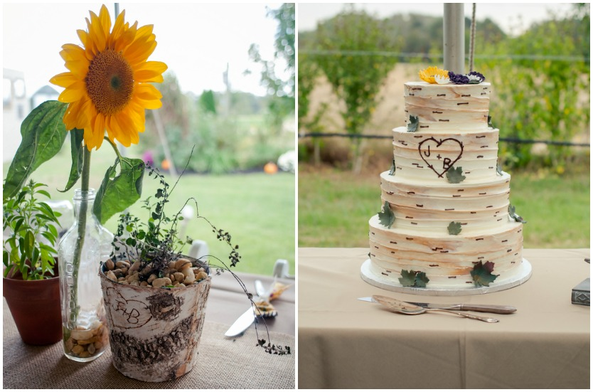 Rustic Wedding Invitations Sunflower