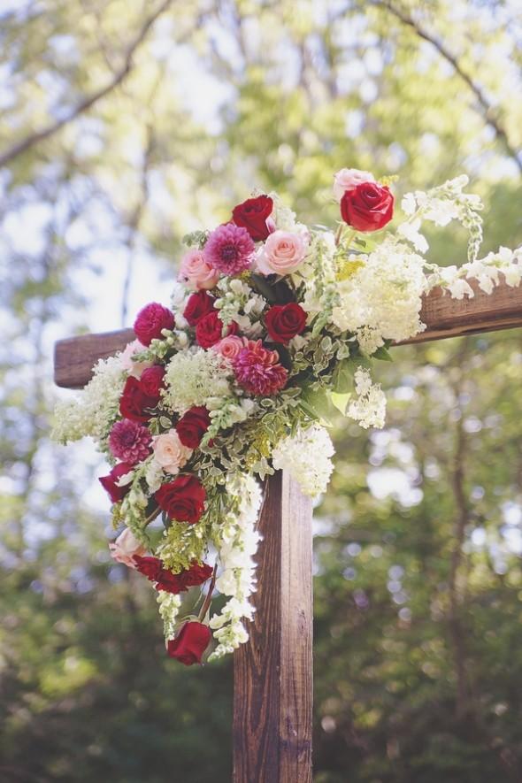 Rustic Red & Blue Wedding