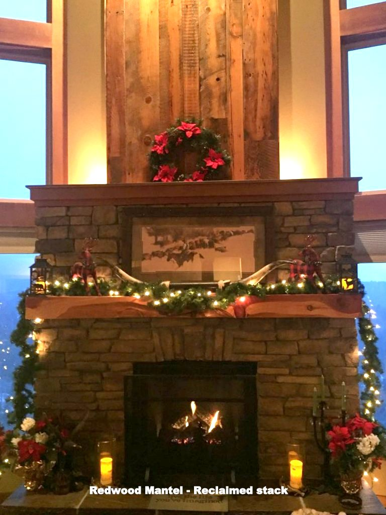 Reclaimed Redwood Mantel
