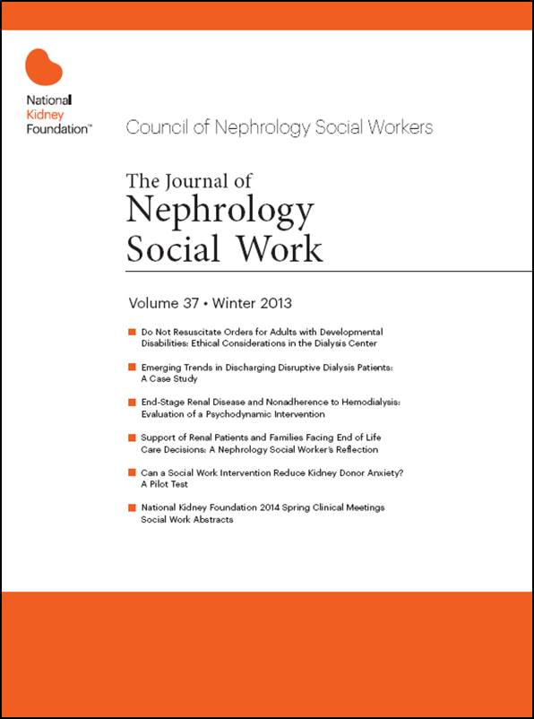 Nephrology Social Work журнал социальная нефрология