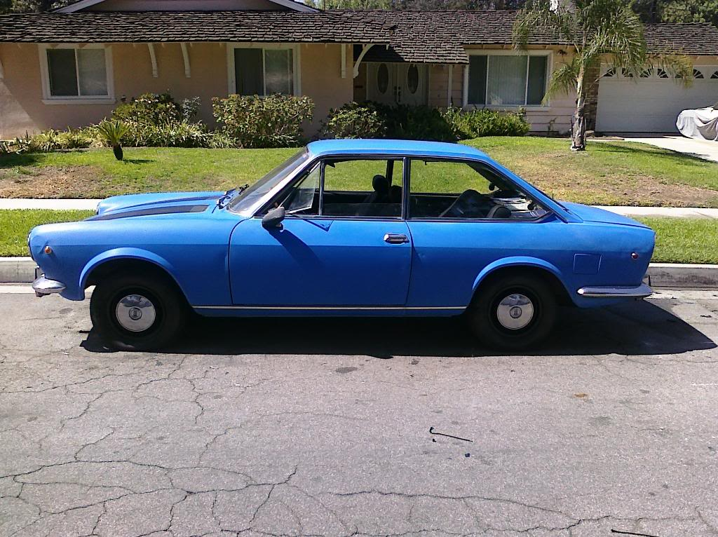 1969 Fiat 124 coupe left side