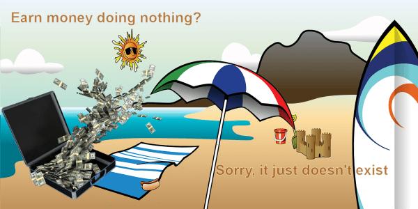 earn money doing nothing
