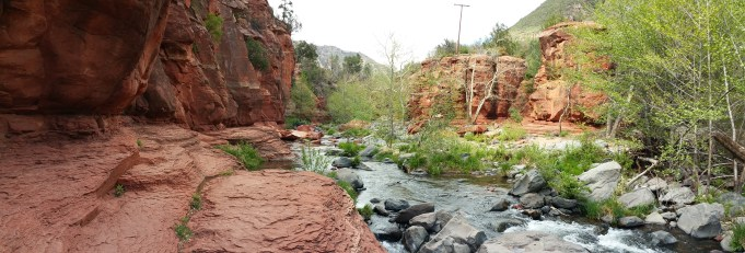 Slide Rock State Park. Great Red Rock Scenery!