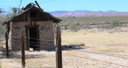 A desert shack was once a home for settlers