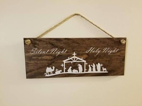 Silent Night Wall Sign