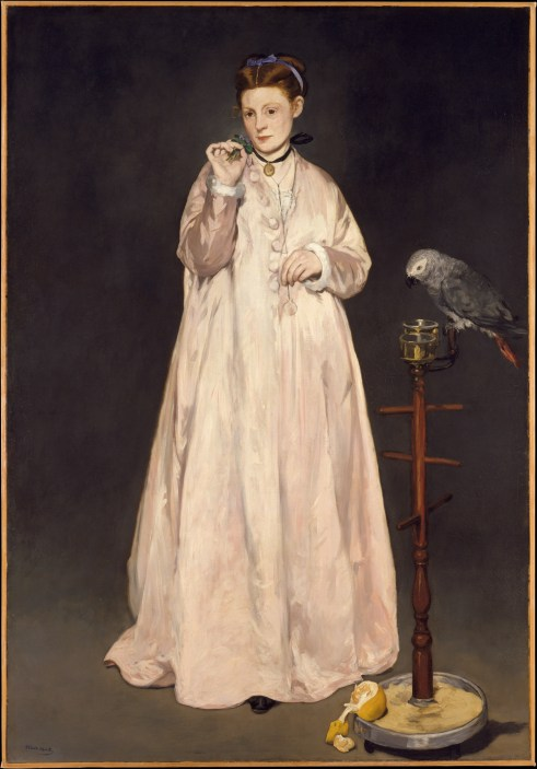 1866 Edouard_Manet_Femme au perroquet