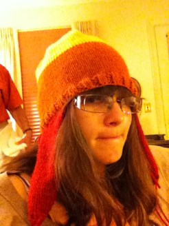 I made Oren a very particular hat to wear for Comic Con.
