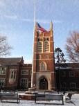The ever-comely façade of Princeton High School.
