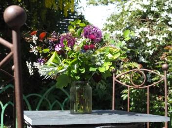 Lively spring garden bouquet