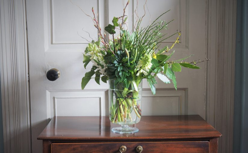January Delivery daffodils, paper whites, hyacinths, twigs and greenery