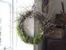 Huge mossy spring wreath Feb 2020h