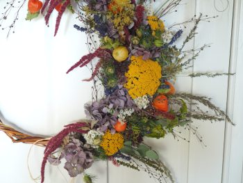 Extra large dried wicker wreath