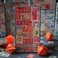 Decorative vintage stamp boxx