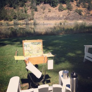 Plein Air at Morrison's Lodge, Merlin, Oregon