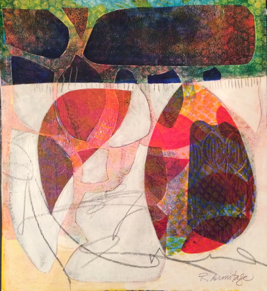 Gelli-Print & Collage from Jane Davies workshop