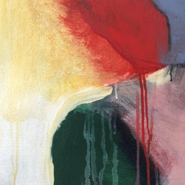 colorful modern painting of a figure detail acrylic painting