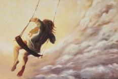 Den Himmel kuessen · Oel auf Leinwand · 150 x 100 cm