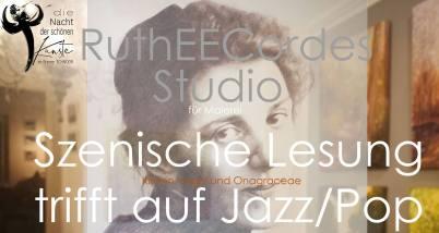 Szenische Lesung und Jazz im Studio RuthEECordes zur Nacht der schönen Künste